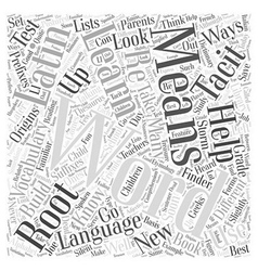 meaning of words Word Cloud Concept vector image vector image