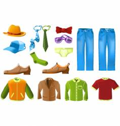 men clothes icon set vector image vector image