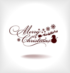 merry-christmas-card vector image