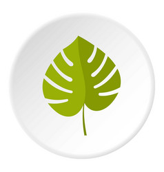 Palm leaf icon circle vector