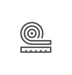 Roll insulation icon vector