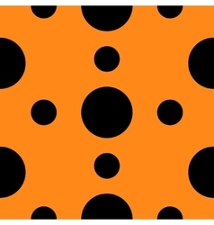 Seamless Pattern with circle Black polka dots vector image