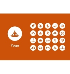 Set of yoga simple icons vector image