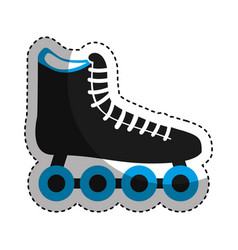 skate roller isolated icon vector image