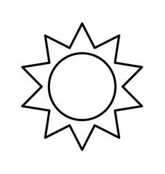 Sun silhouette ecology icon vector