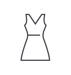 sundress line icon sign on vector image vector image