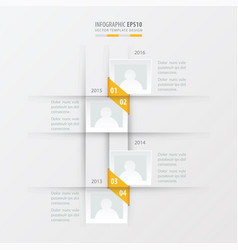 Timeline design yellow color vector