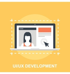 UI UX Development vector image