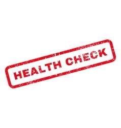 Health check text rubber stamp vector