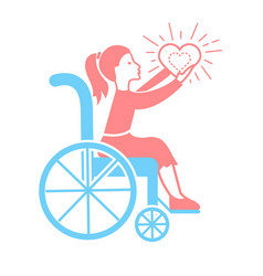 Icon of disabled persons vector