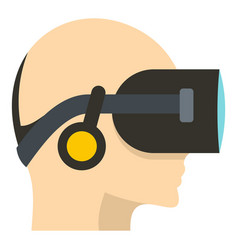 vr headset icon isolated vector image