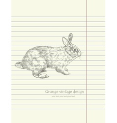 Hand drawing sketch rabbit vector