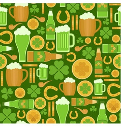 Seamless pattern of saint patricks day objects vector