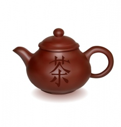 Clay teapot vector