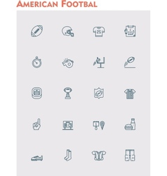 American football icon set vector