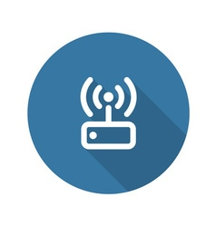 Internet wi fi router flat design vector