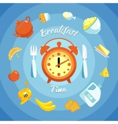 Breakfast flat composition vector