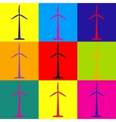Wind turbine logo or icon vector
