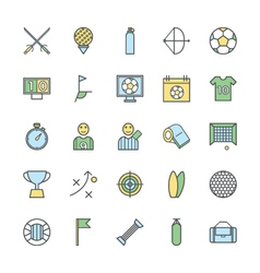 Sports bold icons 2 vector
