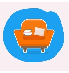 Chair with white stroke vector