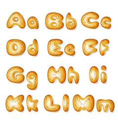 abc made of bread cakes vector image vector image