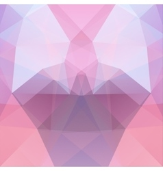 Background made of pink triangles square vector