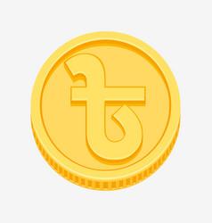 bangladeshi taka symbol on gold coin vector image vector image