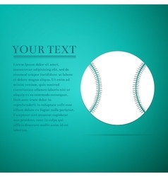 Baseball ball flat icon on blue background vector