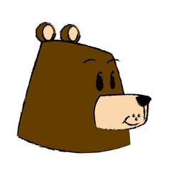 Cartoon bear forest animal character vector