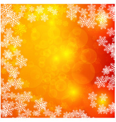 christmas light with snowflakes background vector image
