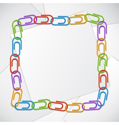 Color clips frame vector image vector image