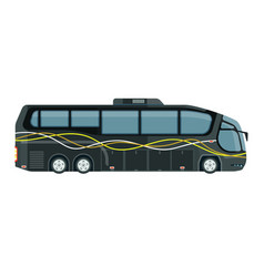 Contemporary tourist bus in grey color isolated on vector