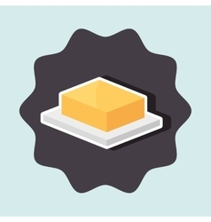 Delicious butter isolated icon design vector