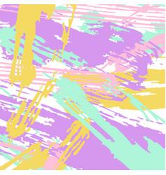 Different colours paint strokes vector