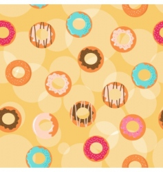 donuts background vector image vector image
