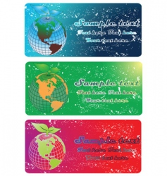 earth globe banners vector image vector image