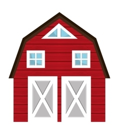 Farm barn building isolated icon vector image vector image