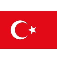 Flag of Turkey in correct proportions and colors vector image vector image