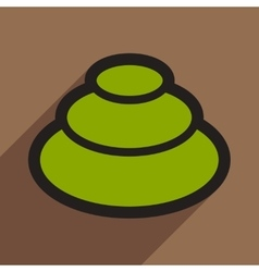 Flat with shadow icon wasabi on stylish background vector