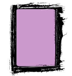 Frame background painted shabby vector