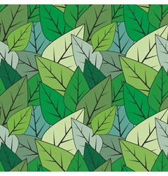 Green seamless abstract leaves texture vector image vector image