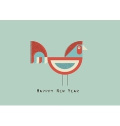 happy new year cock vector image vector image