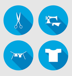 Household sign set sewing machine hanger vector