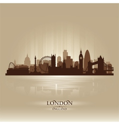 London england skyline city silhouette vector