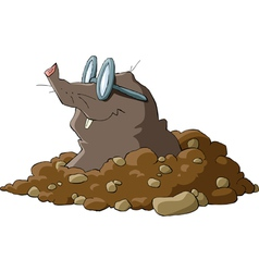 mole with glasses vector image