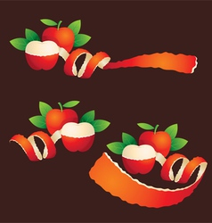 Peel Apple Ribbon Like vector image