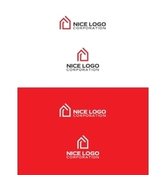 red house logo vector image vector image