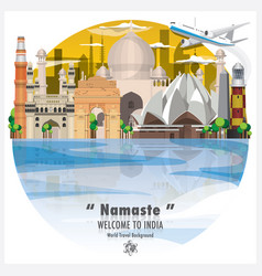 republic of india landmark global travel and vector image