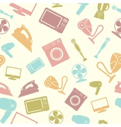 Seamless pattern of Household appliance vector image vector image