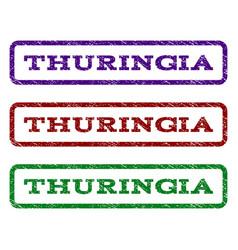 Thuringia watermark stamp vector